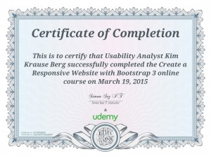 Certified Bootstrap Design