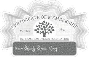 Interaction Design Foundation Certificate