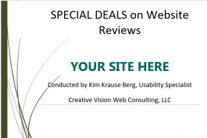 Special Deals on Website Reviews