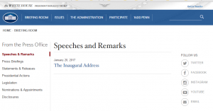 Speeches and Remarks Page